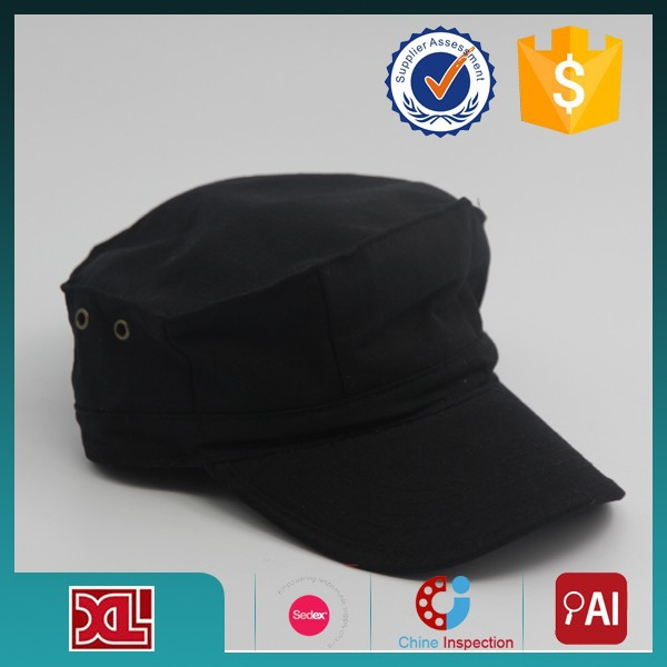 Professional OEM/ODM Factory Supply OEM Quality blank cotton military cap hats from China manufacturer