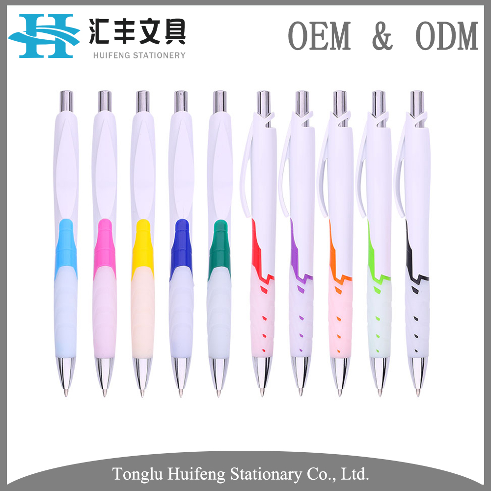 HF5246B Oem custom logo promotional stationery plastic rubber ball point pen