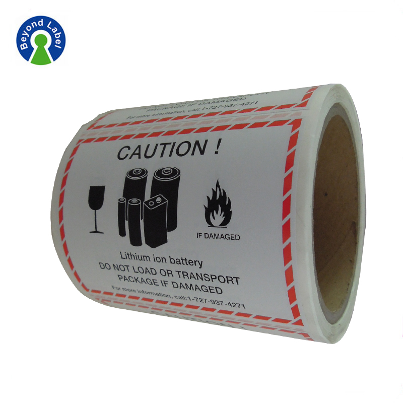 Custom Paper sticker Printing For Lithium Battery Roll adhesive labels