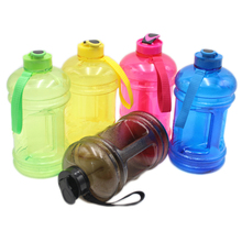 2.2L classic style large capacity easy carrying water bottle,BPA free water bottle for OEM, Candy colors water jug