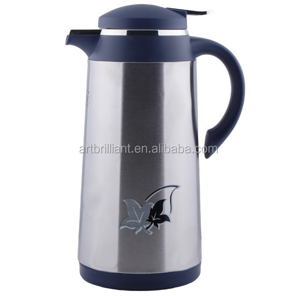 thermos stainless coffee pots Carafe Hot Cold Pot with Lid BRILLIANT brand