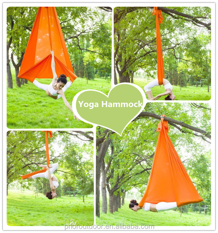 Hot sales- Ultra Strong Antigravity Yoga Hammock/Trapeze/Sling for Air Yoga Inversion Exercises - 2 Extensions Straps