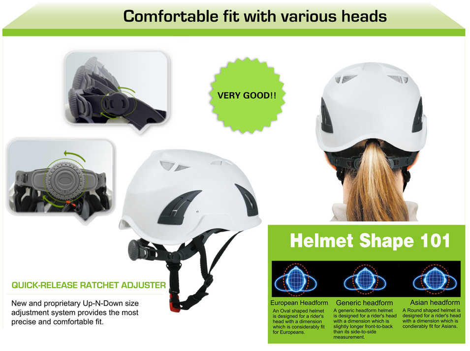 CE EN 12492 Climbing helmet for work at height/rock climbing/civil defence 7