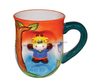 Cartoon relief ceramic beer mug
