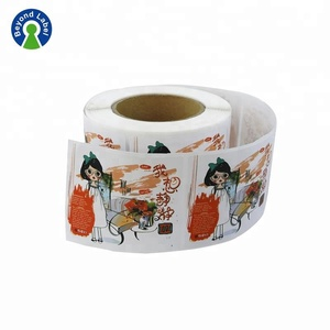 Wholesale semi gloss paper sticker , coated sticker paper adhesive printed label