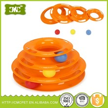 Plastic Cat Tower of Tracks Cat Ball 3 layers cat playing toys
