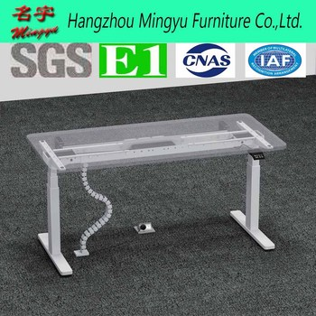 Electric Lift Mechanism Driven Sit Stand Gl Tempered Computer Desk