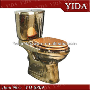 Foshan Sanitaryware Pan Toilet Bowl Water Closet Gold