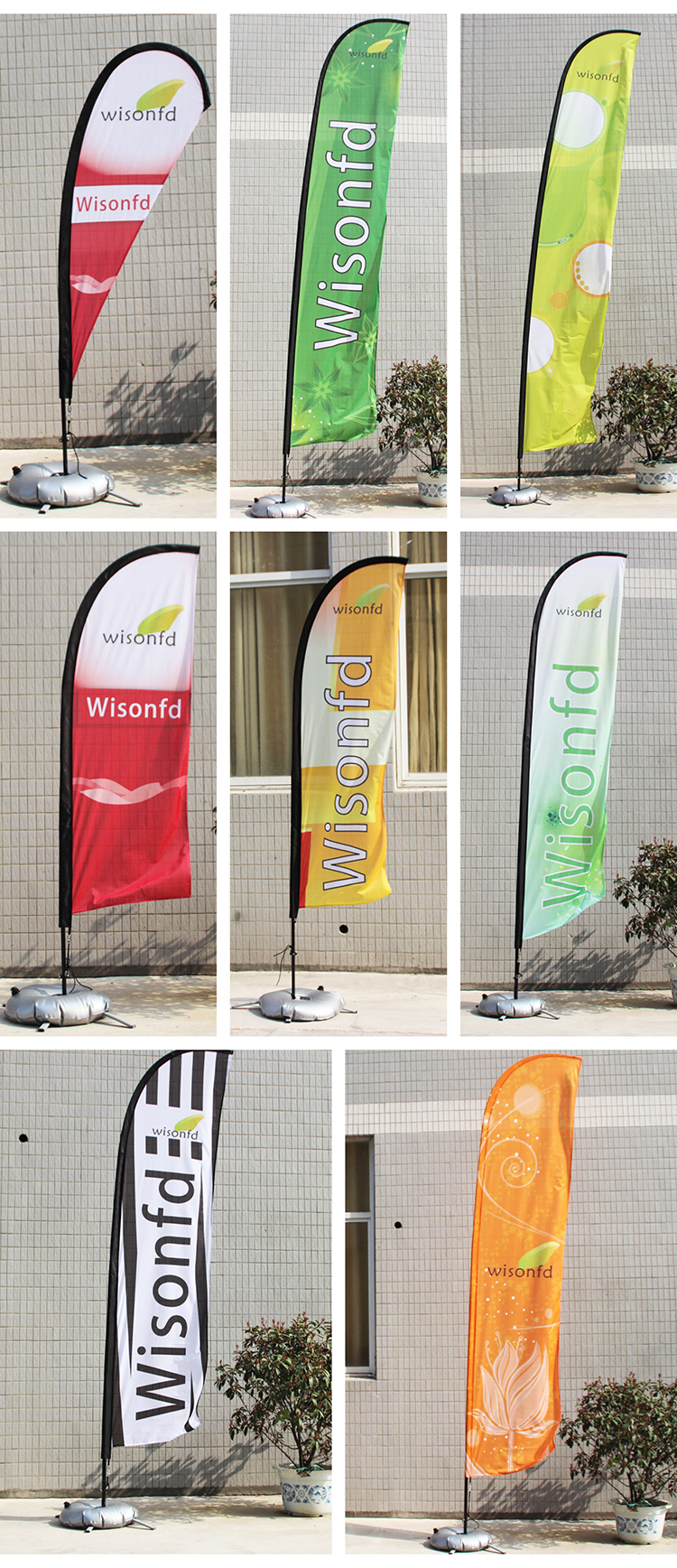 4.5 メートル屋外広告ブレイド旗