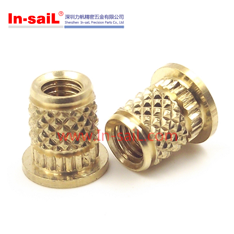 Brass Ultrasonic Heat Staking Knurled Threaded Inserts Nut For ...