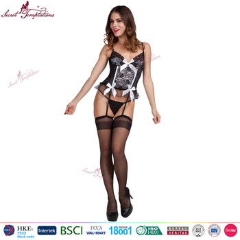 94685a4be hot sexy lingerie nightwear underwear lace babydoll + garters + g-string sexy  babydoll lingerie
