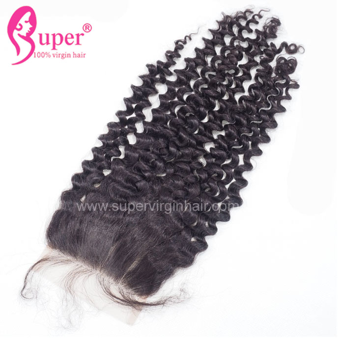 Curly Free Part Swiss Lace Closure, 4x4 Best Virgin Hair Vendors Mongolian Unprocessed Extensions for African Elegant Lady