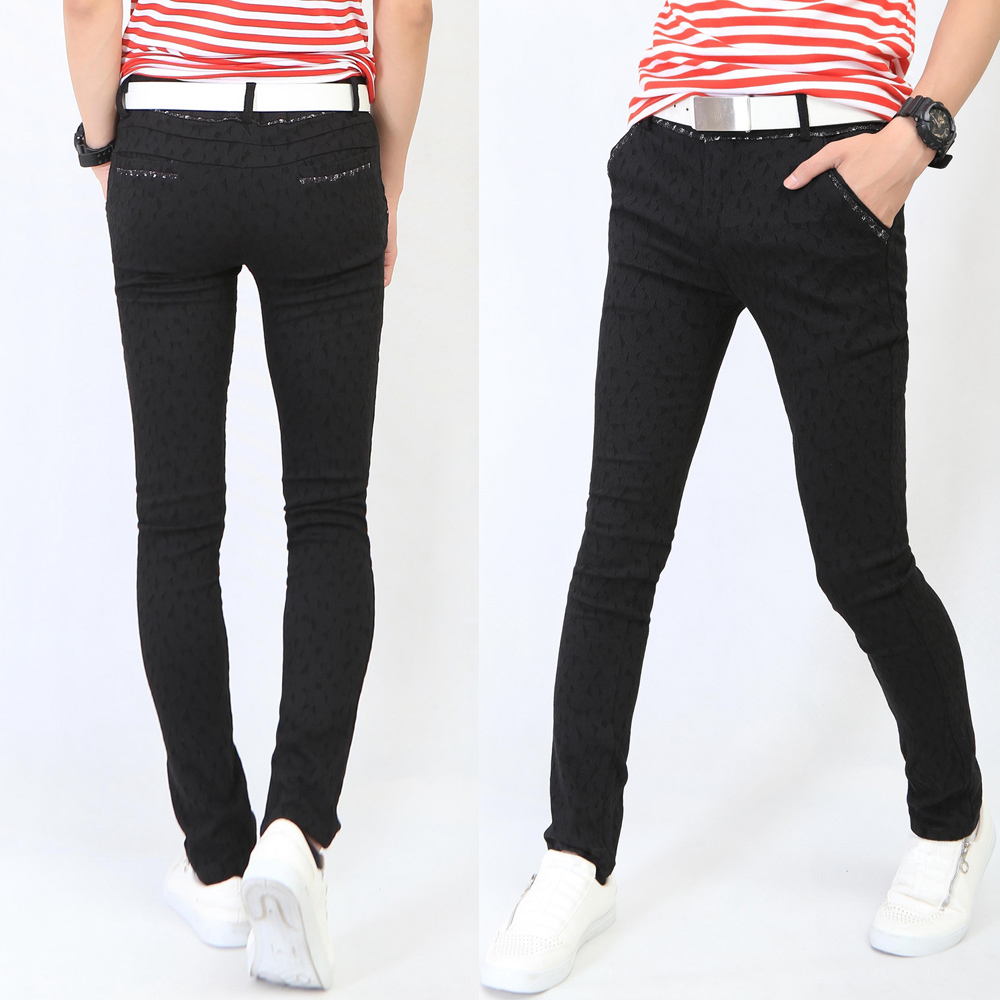 3ba6060f0fc9 Get Quotations · Teenage male trousers men s clothing casual pants tight-fitting  elastic skinny pants summer boys relief