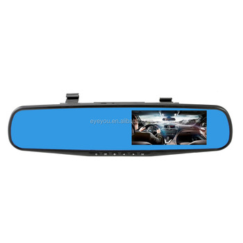 HD 1080P Mirror Car camera with unique parking mode function Dual dash camera DVR