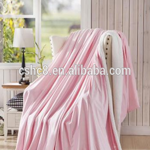 2layer 100% Polyester thick flannel+sherpa /polar fleece blanket/throw