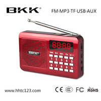 Portable trolley speaker mini fm radio mp3 player (KK61)