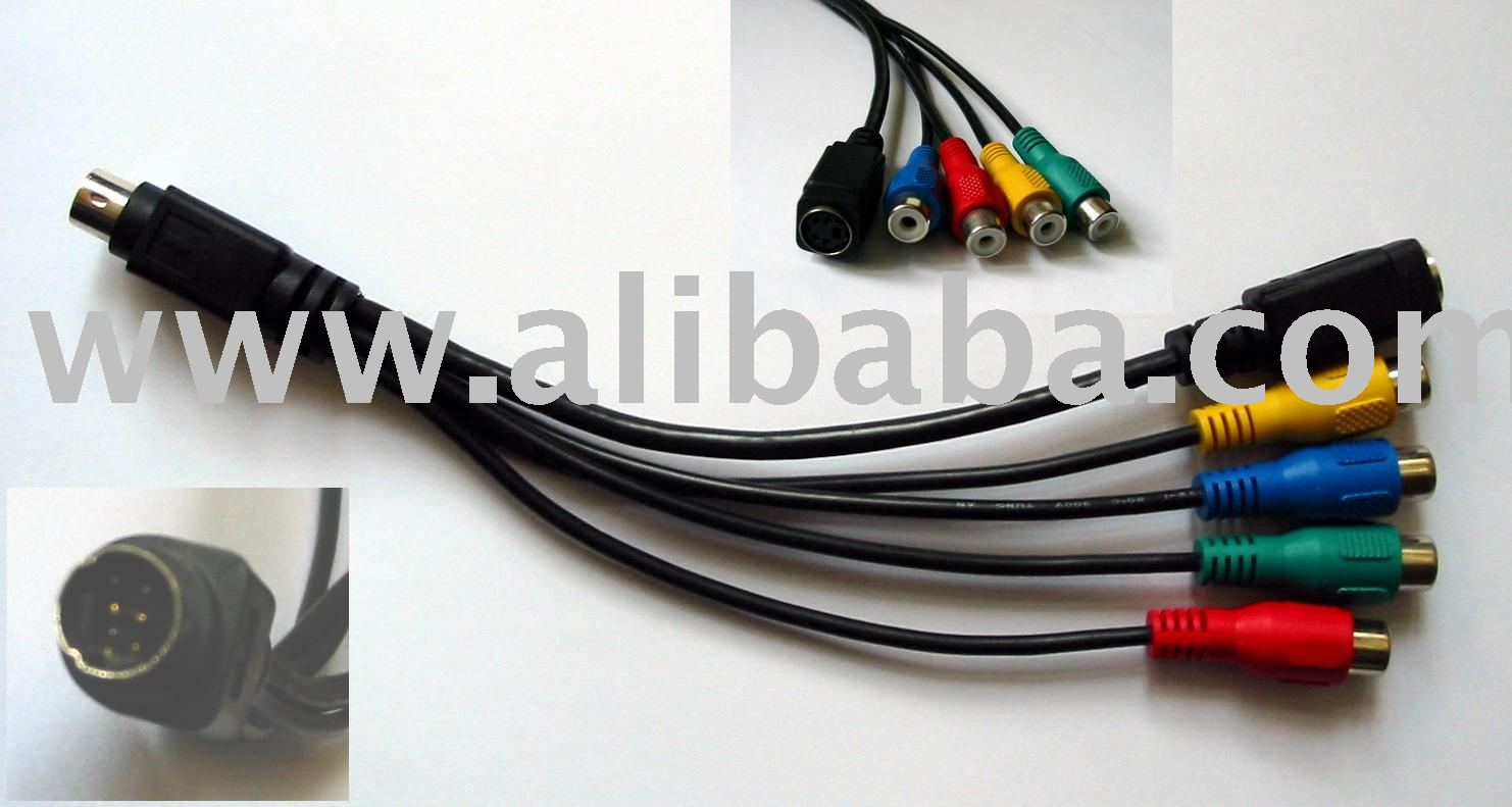 7 Pin S Video To 4pin Rca Rgb Adaptor Buy Svideo Cable Adapter Vga Schematic Product On