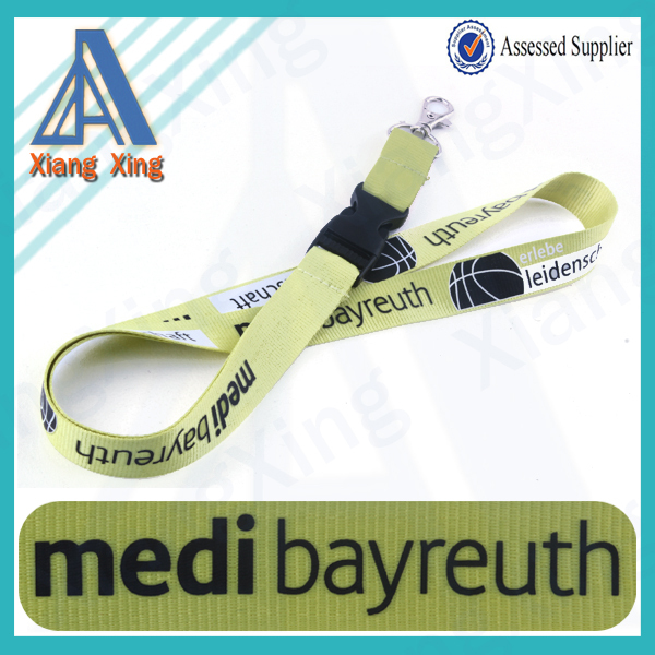 Nature green Dye sublimation Personalized christmas ornament lanyard for 2015