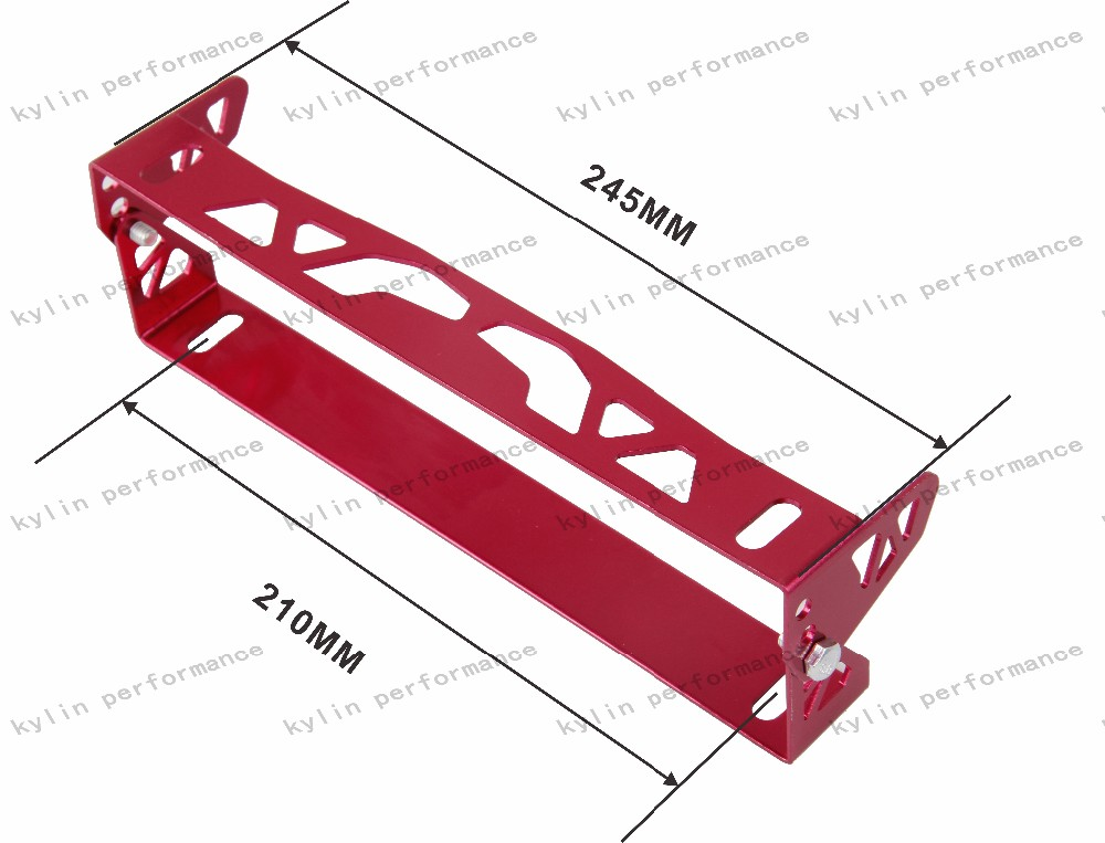 Kylin Racing Aluminum Car Styling Adjustable Number Plate License Plate Frame Holder without logo