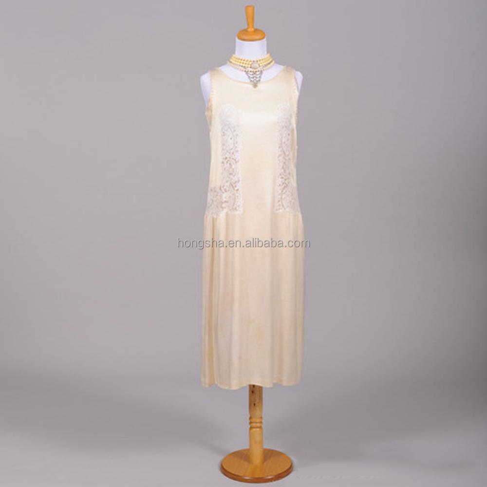 Vintage Lace Wedding Dress Designer One Piece Dress In Satin Hsd1445 ...