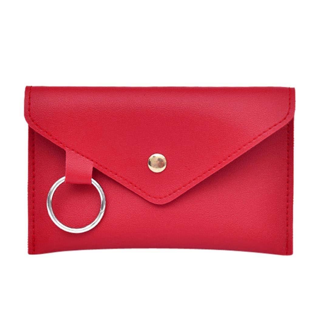 Shybuy Fashion Women Pure Color Ring Artificial Leather Messenger Shoulder bag Waist Bag Chest Bag