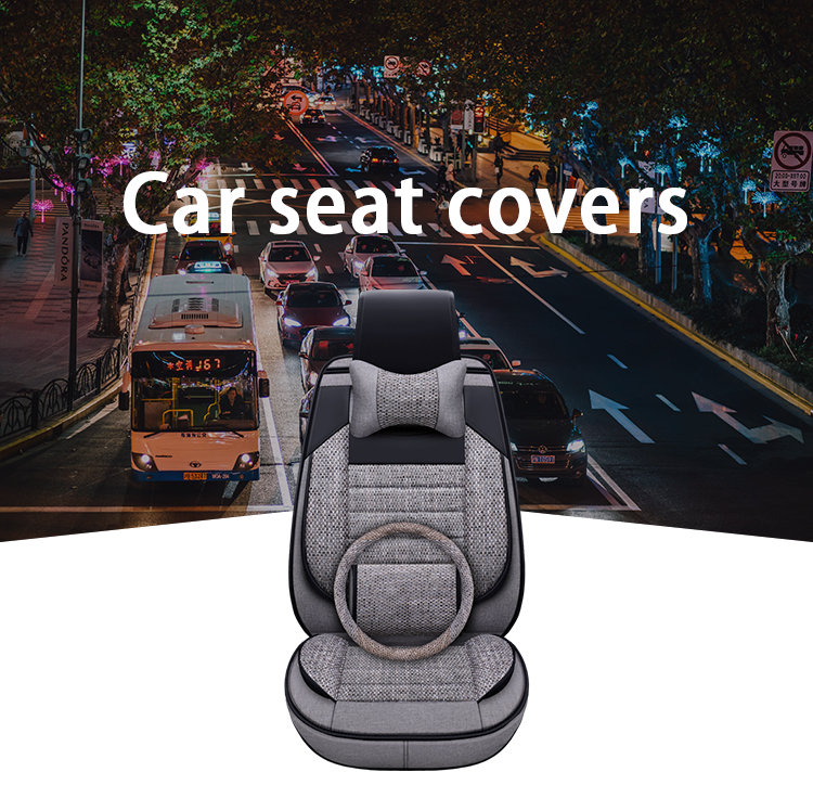 ZT-B-008 High quality car custom seat covers linen fabric seat cover