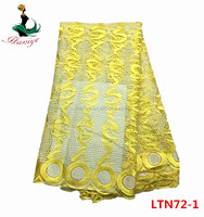 Haniye LTN72-1 2017 Newest Fashion Embroidery Tulle Lace Fabric African dress Lace for Party and wedding