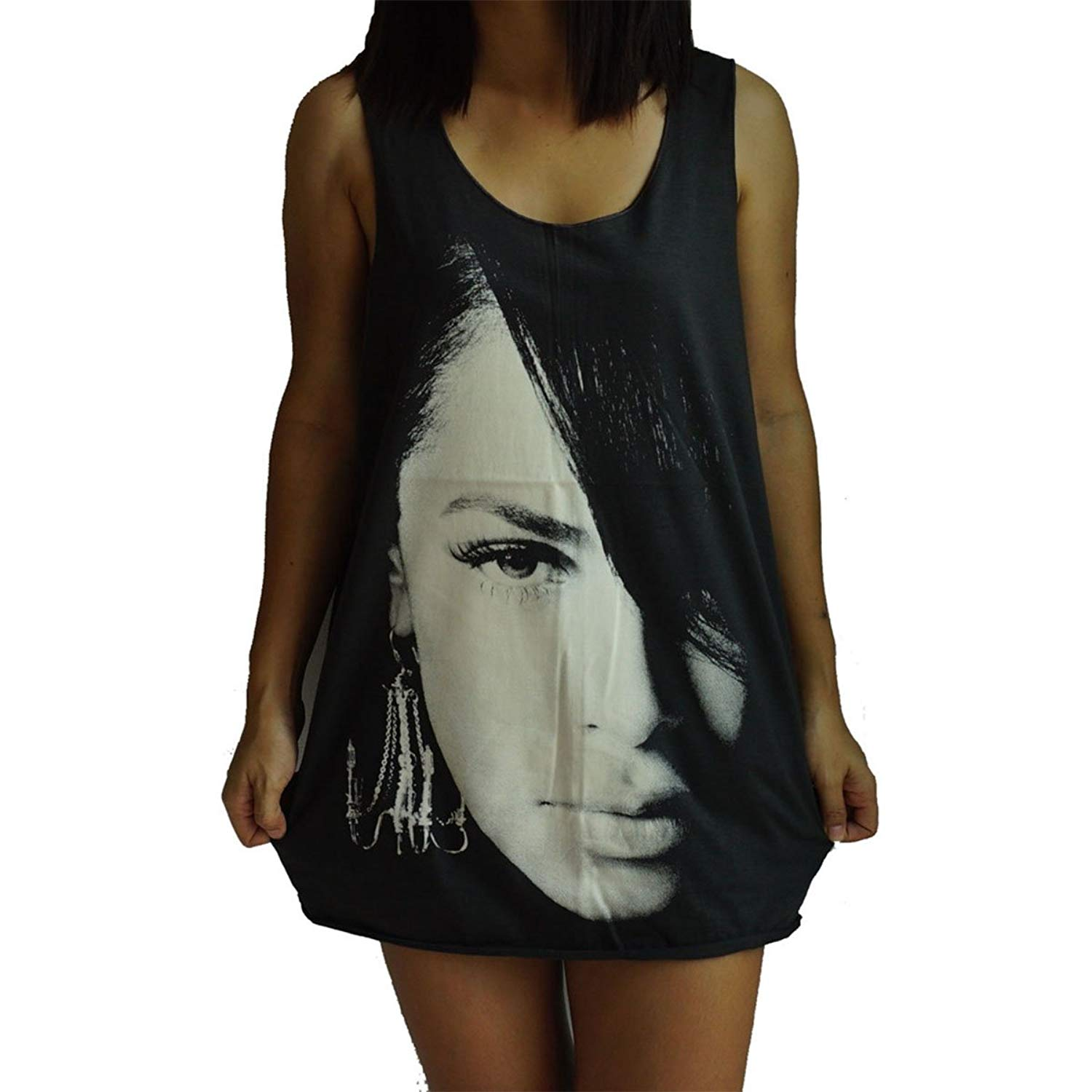 Unisex Aaliyah Vest Tank-Top Singlet Dress Sleeveless T-Shirt
