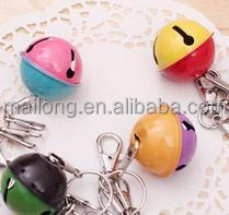 Key ring the bell Color of the lacquer that bake Christmas lucky bell mouth key pendant accessories gifts pn6808