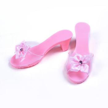 Venta Al Por Mayor Juguetes Rosas Accesorios Princesa Plástico Zapatos De Tacón Alto Ambiental Buy Zapatos De Fiesta Para Niñas,Accesorios De
