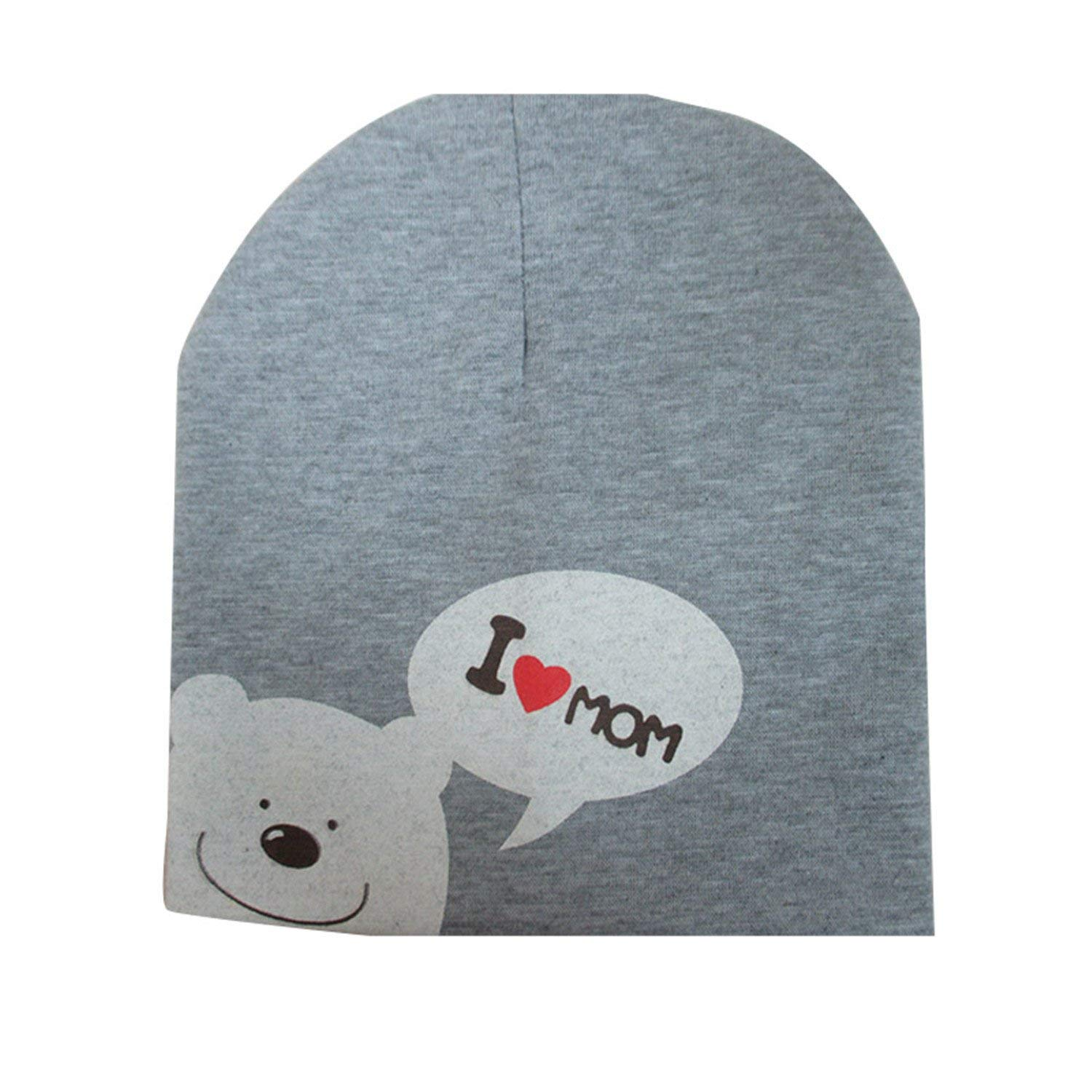 Get Quotations · Donna Pierce I LOVE MOM DAD Cartoon Bear Knitted Cotton  Beanie Cap Cute Baby Hat 9cac175a0af1