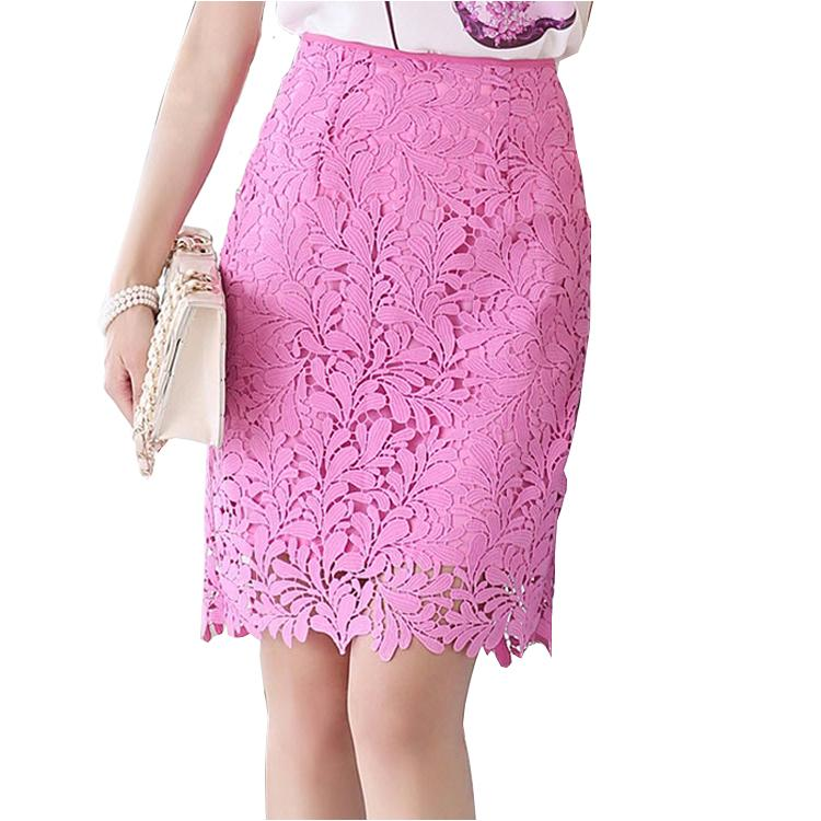 11333285f Get Quotations · Women High Waist Lace Skirt 2015 Summer Style Bandage Skirts  Pink Package Hip Skirt Slim Fit