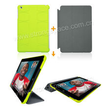 Green Rubber Hard Cover With linning Soft Interior For iPad Mini