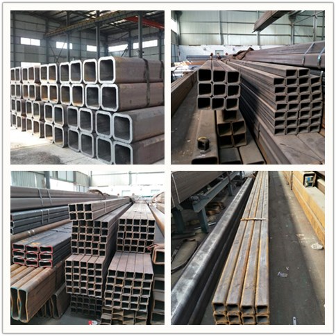 GI coating 60g Black seamless square steel pipe