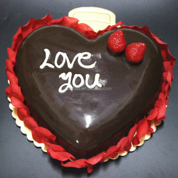 2015 New Heart Shaped Plastic Birthday Cake Model For Party Display