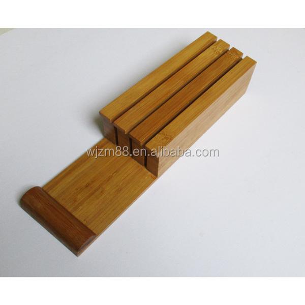 Neue Produkte Bambus Schublade Messerblock Bambus Messer Schublade