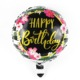 18 inch round qualatex happy birthday printed foil helium mylar balloons decoration