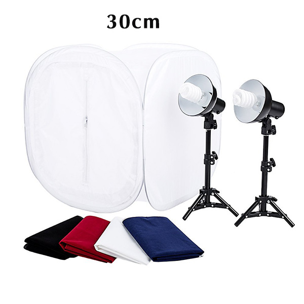 30cm Table Top light tent kit Soft Box Photography with lamp cover LED Photo Light Set with Clamp