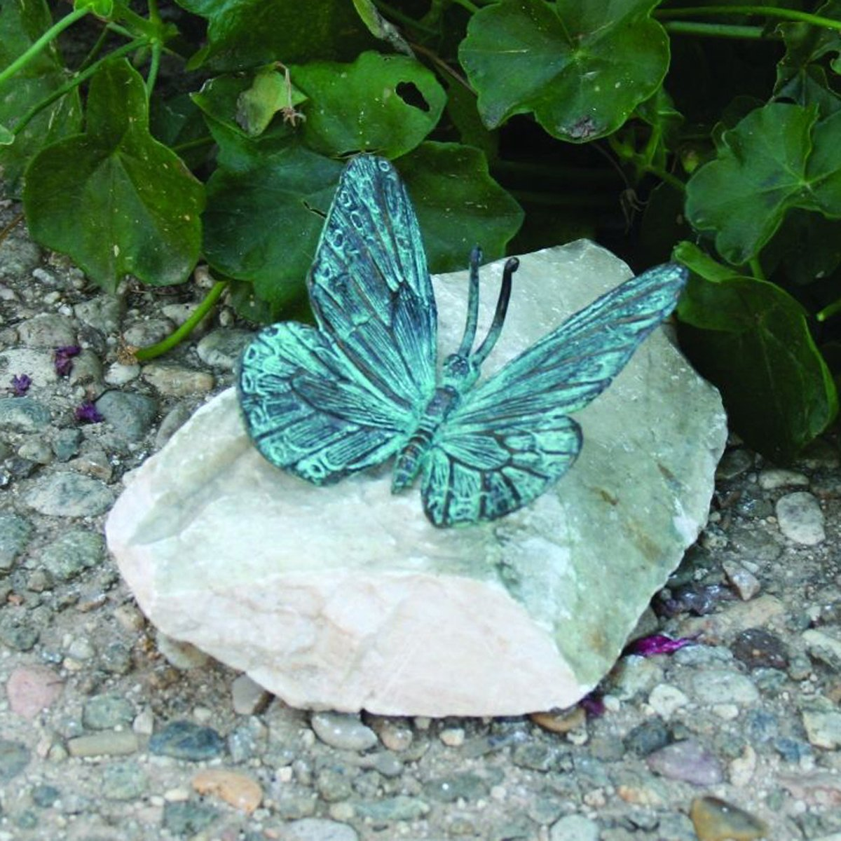 Design Toscano Butterfly Bronze Garden Statue Butterfly, Verdigris