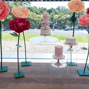 high quality good selling clear round acrylic plinth for wedding
