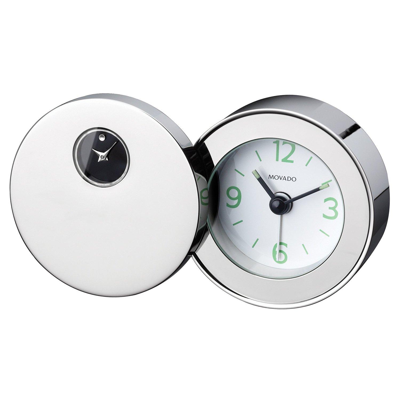 Get Quotations · Movado Silvertone Travel Alarm Clock