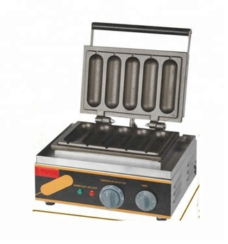 Commercial kitchen equipment china waffle dog baker machine electric corn hotdog waffle maker hot dog waffle maker