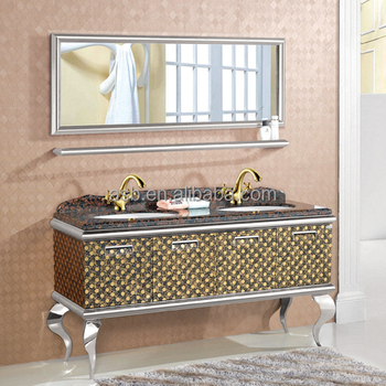 Superb 72 Inch Double Sink Stainless Steel Bathroom Vanity Cabinets Gold Buy Bathroom Vanity Cabinets Gold 72 Inch Double Sink Bathroom Vanity Chinese Unit Download Free Architecture Designs Photstoregrimeyleaguecom