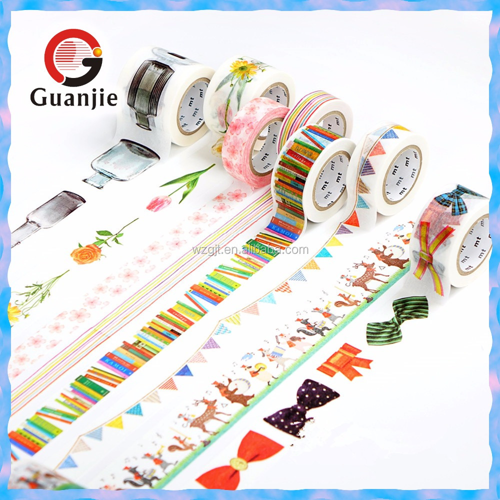 wholesale custom printed Paper Craft Japanese Washi Masking Tape