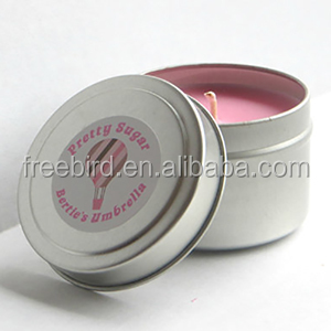 Mini Home Fragrance Scented Soy Wax Tin Can Candle