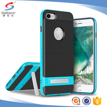With kick stand carbon fiber cell phone case for iphone 6 6s 6plus