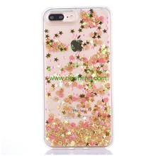 Soft TPU Mobile Phone Case Shining Glitter Liquid Flow Quicksand case for iPhone 8 7 7 plus