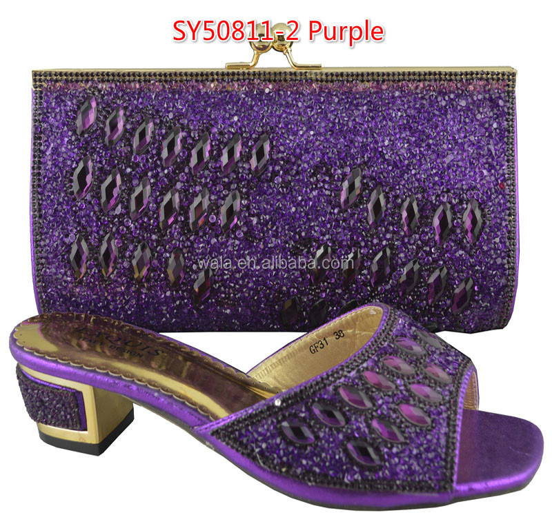 SY50811 rhinestone 1 and 65 gold african matching for bag high inch sandals with slippers 1 shoes women qgw61Z