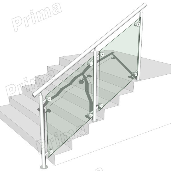 Aluminum Glass Railings For Outdoor Stair,Balcony.