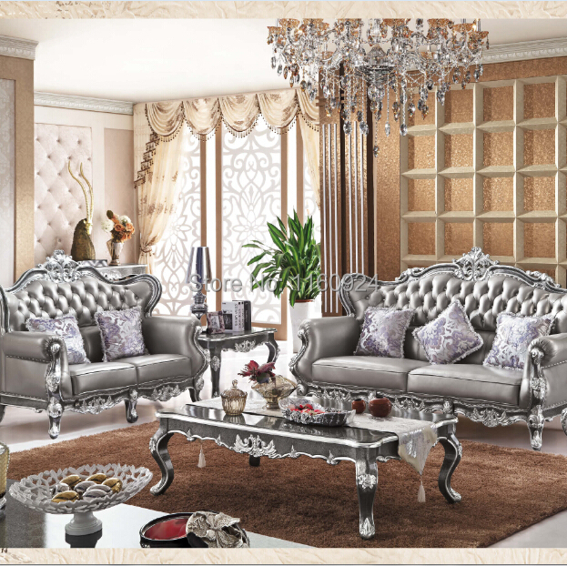 Luxury Silver Grey Oak European Style Living Room